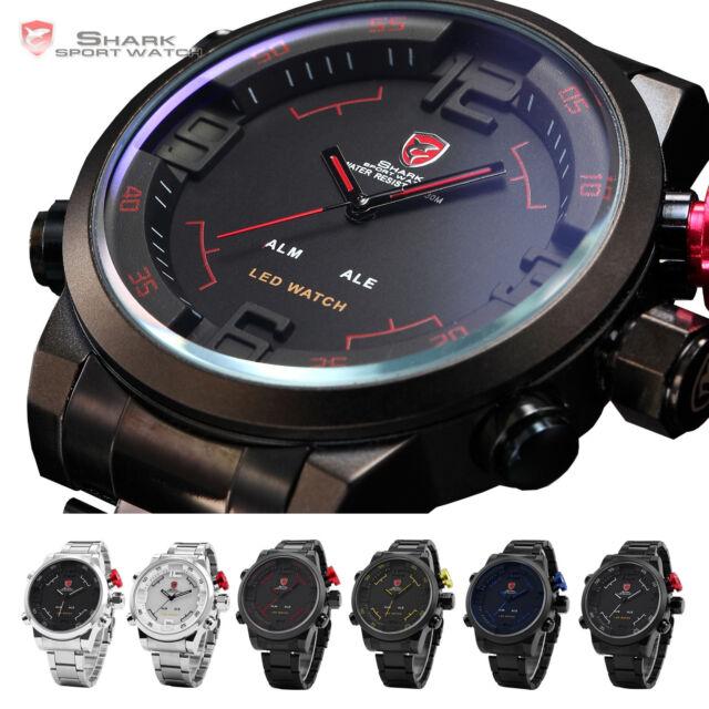 Shark Sportuhr Gulper Shark 3D Herrenuhr Analog&Digital Herren Armbanduhr Uhr
