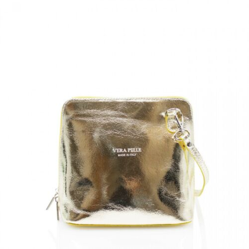 Fashion Ladies Vera Pelle Italian Leather Small Cross Body Shoulder Bag Satchel