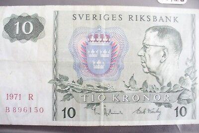 Nieuwste Collectie Van Ancien Billet - 10 Kronor Suede 1971 - Etat Ttb !!!