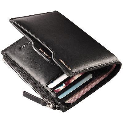 Genuine Leather Men's Bifold Wallet Purse Card Cash Receipt Holder Organizer NEW