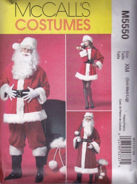 MC Call´s Schnittmuster 5550 XN Weihnachtsmann Nikolaus In 3 ...