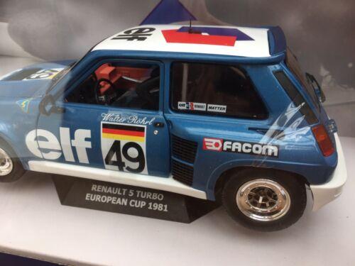 SOLIDO 1801307 Renault 5 Turbo Diecast Voiture Modèle W ROHRL EUROPEAN CUP 1981 1:18