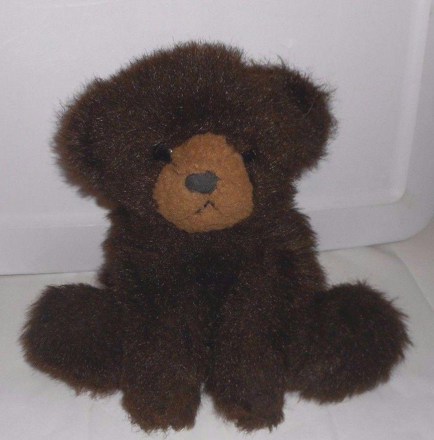 15   Vintage 1982 Gund Dunkelbraun Baby Floppy Teddybär Plüschtier Spielzeug