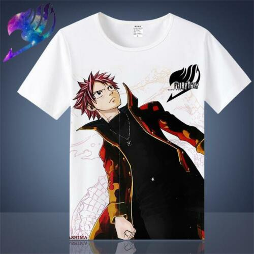 Japan FAIRY TAIL Anime Cartoon White Summer Wear Cool Vest T-shirt Cosplay Gift