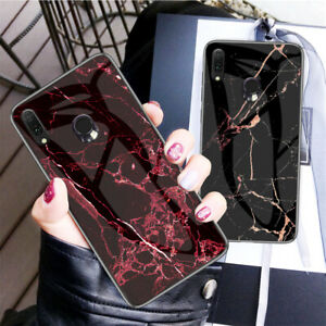 For-Asus-Zenfone-Max-Pro-M2-ZB631KL-Hybrid-Marble-Glass-TPU-Bumper-Case-Cover