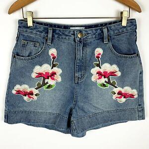 Embellished denim shorts Size 27 USA Size 4