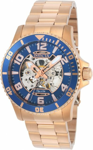 f92d9e4fa861 Invicta Men s Objet D Art Automatic Rose Gold Plated Stainless Steel Watch  22605