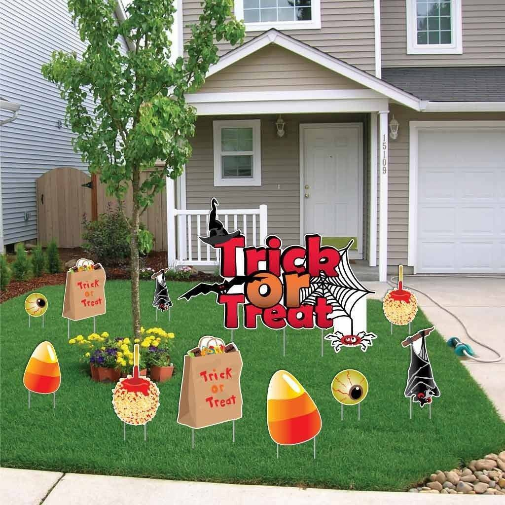 Halloween Yard Decoration  Trick or Treat  with Tricks and Treats  FREE SHIPPING