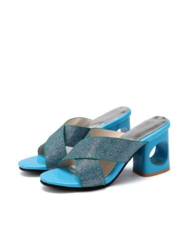 Details about  /Big Size 34-48 Ladies Summer Slipper Hollow Heel Casual Sandals Fashion Mules US