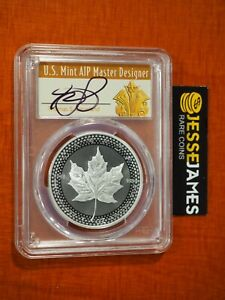 2019 $5 MODIFIED PROOF SILVER MAPLE LEAF PCGS PR70 CLEVELAND FIRST DAY OF ISSUE