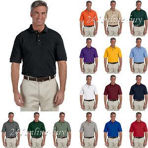 4041d012 Harriton Men's Three Button 100% Cotton Short Sleeve Pique Polo ...