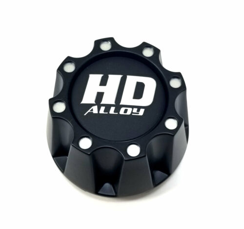 "HD Matte Black Beadlock Center Cap Snap-In 3.3/"" for 4x110 4x115 HD3 HD4 HD5 HD6"