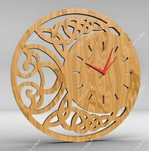Details About Nice Clock Design Dxf And Eps File For Cnc Plasma Router Laser C36