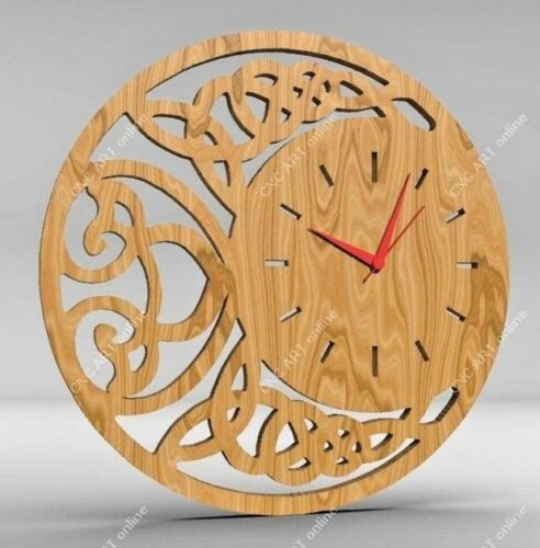 Router laser Nice clock design DXF and EPS File For CNC Plasma C36