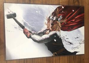 NEW-Greg-Horn-Marvel-Thor-Avengers-Art-Print-11-034-x-17-034-SIGNED-by-Greg-Horn