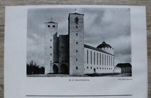 1-Blatt-1929-Bamberg-Heinrichskirche-Kirche-Architektur-Ofr-23x14cm
