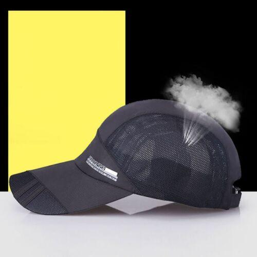 Men Women Outdoor Quick-drying Visor Caps Sport Summer Running Baseball Mesh Hat