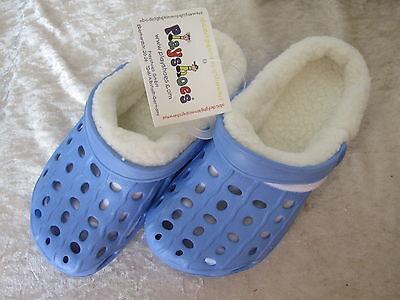 Playshoes EVA-CLOGS Clog Clogs Hausschuhe für Kinder Batschen warm mit Futter