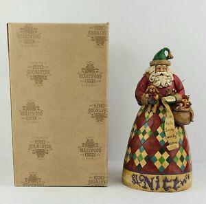 "JIM SHORE  Heartwood Creek  Santa ""Naughty/Nice He Knows""  #4002405 2005"