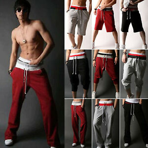 Men-039-s-Casual-Jogger-Pants-Shorts-Loose-Harem-Trousers-Sports-Slacks-Sweatpants