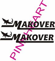 Makover Boat Decal Stickers Graphic Logo Decal Flats Boats Mako With Shark Usa