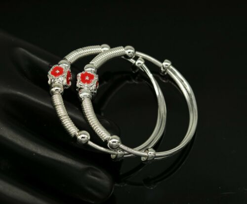 Details about  /925 sterling silver awesome customized bangle bracelet unisex kids jewelry bbk20