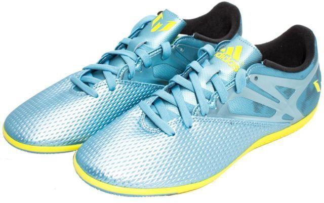 Adidas señores messi 15.3 en botas de fútbol metálico hielo amarillo b32898 SZ 12