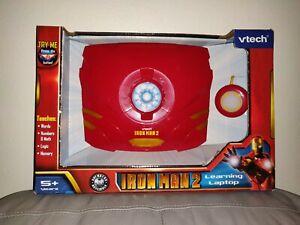 NEW-Rare-Vtech-V-Tech-Iron-Man-2-Ironman-Learning-Laptop-Model-80-110200