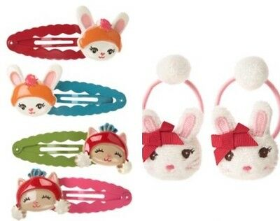 Gymboree Sweet Treats Barrettes Hair Clips 6 7 8 10 12 Cupcakes Red Pink 2011