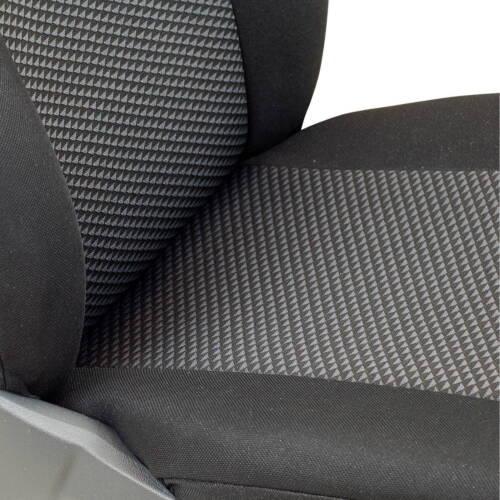 Schwarz-Graue Triangoli Classic Coprisedili per Opel Corsa Coprisedile Auto Set