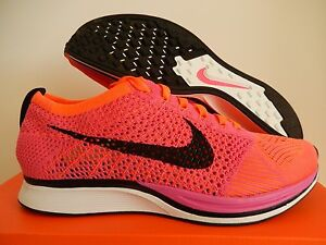 entire collection online for sale hot new products MEN'S NIKE FLYKNIT RACER PINK FLASH-BLACK-HYPER CRIMSON SZ 9.5 ...