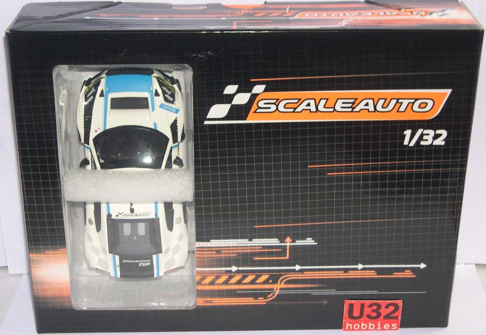 presa di fabbrica SCALEAUTO SC-6180B AUDI AUDI AUDI R8 LMS GT3 CUP ANGLEWINDER RACING bianca BLU  alta quaità