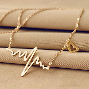 Femme-chaine-Collier-electrocardiogramme-palpitation-pendentif-Coeur-Bijoux- 2f66a1b67b5