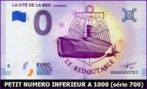Amical Ue Ad-3 / La Cite De La Mer - Cherbourg / Billet Souvenir 0 Euro / 2019-3*