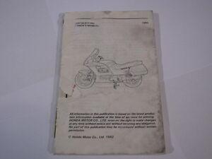 HONDA-ST1100-ST1100-1992-PAN-EUROPEAN-PAN-EUROPEAN-OWNERS-OWNER-039-S-MANUAL