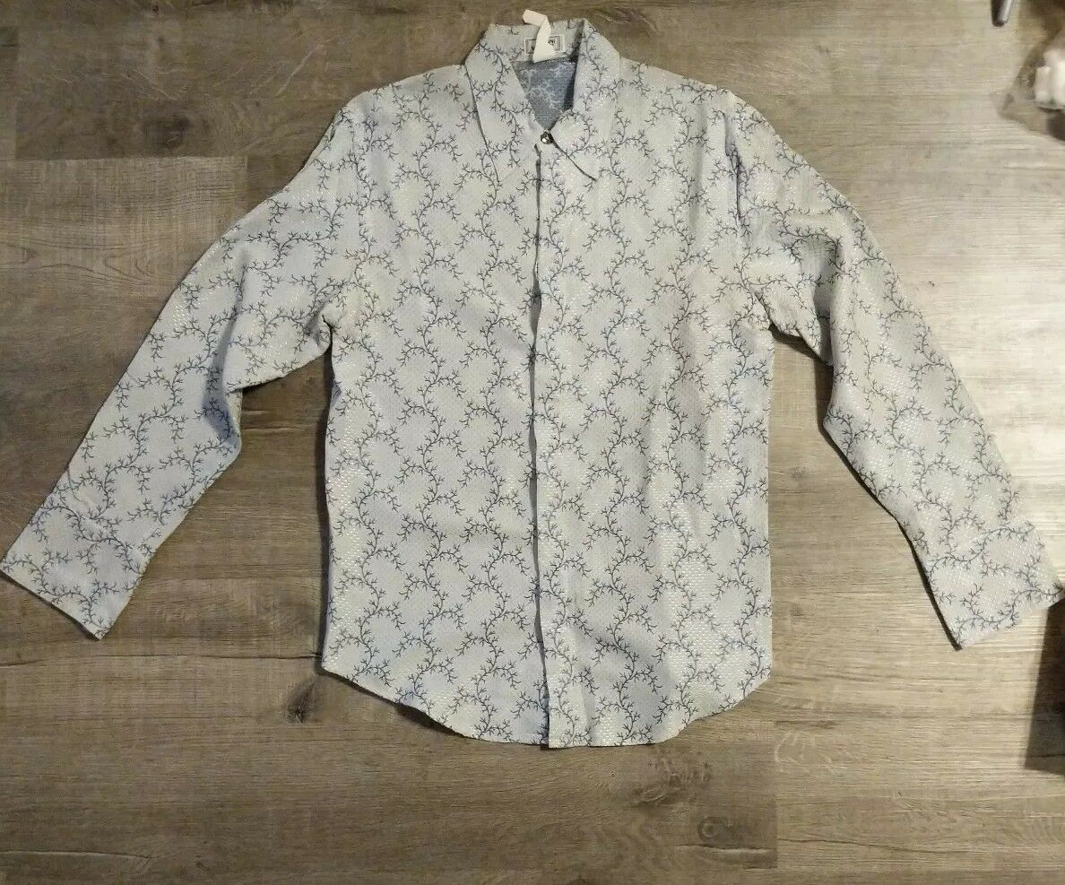 GIANNI VERSACE AUTHENTIC VINTAGE '98 DRESS SHIRT Uomo Uomo SHIRT LAST COLLECT a6c5eb