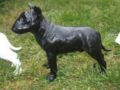 Dekofigur Bullterrier H 25cm natürlich Miniatur Bully wetterfest Gartenfigur NEu