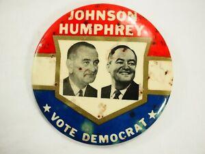Johnson-Humphrey-Vote-Democrata-Politico-Campaign-Boton-Pin-8-9cm