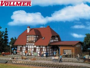 Vollmer-H0-43501-Railway-Station-Sparrow-House-New-Boxed