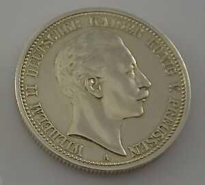 2 Mark Silber Silbermünze Wilhelm Ii Deutscher Kaiser König V