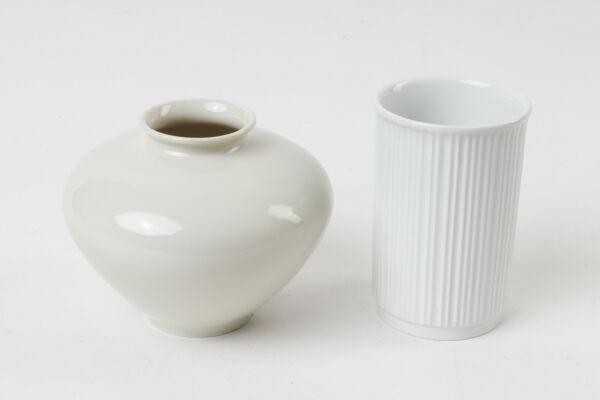 2 Kleine Vasen Von Rosenthal Und Kpm Vintage 60/70er Jahre, Höhe Ca. 10/11 Cm Auf Der Ganzen Welt Verteilt Werden