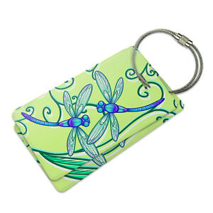 Dragonfly Pattern Travel Tags For Suitcase Bag Accessories 2 Pack Luggage Tags