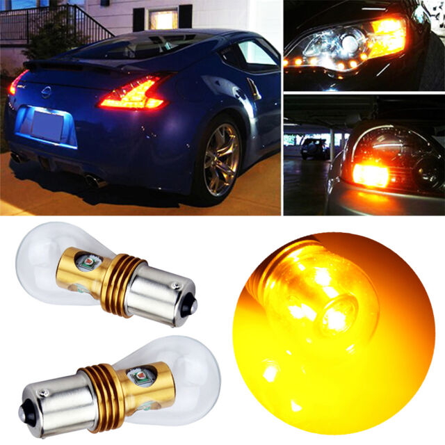 2x20W BAU15S High Power PY21W CREE LED Car Tail Reverse Brake Amber Light Yellow