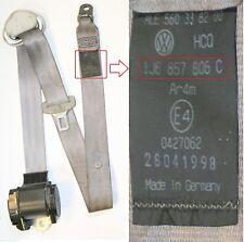 VW Golf Mk4 Seat Belt Gray O/S/R Drivers Side Rear Hatchback 1J6 857 806 C