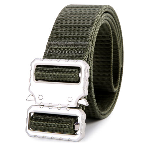 Military Tactical Belts Heavy EDC Duty Quick Release Buckles Shooting Outdoors
