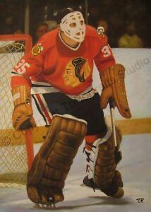 Tony-Esposito-Chicago-Blackhawks-Original-NHL-Poster-Oil-Painting-on-Canvas