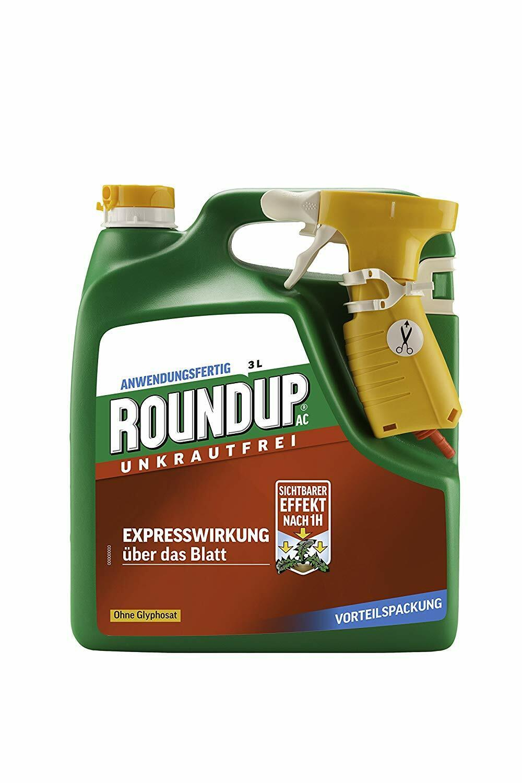 Roundup ac hierbas malas hierbas musgo 3l Express efecto Estrellak obras