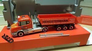 Herpa-Scania-hengstermann-transportes-46414-Rhede-kipper-307390-oferta