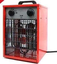 3kw 10200btu/h Rosso industriale officina Riscaldatore Ventola 3000w 230v elettrico Fuoco dello spazio