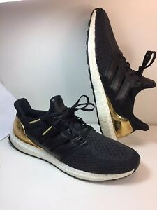 4fc8c1431 Adidas Ultra Boost 2.0 Gold Medal Olympic Black White Gold Men Size ...